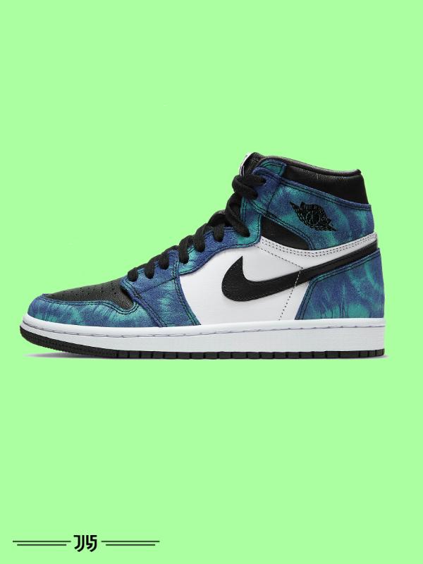 کتونی مردانه Nike Air Jordan 1 tie dye