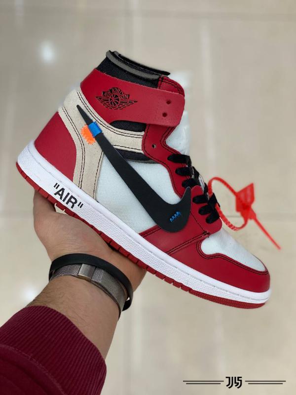 کتونی مردانه Nike Air Jordan 1 Off White