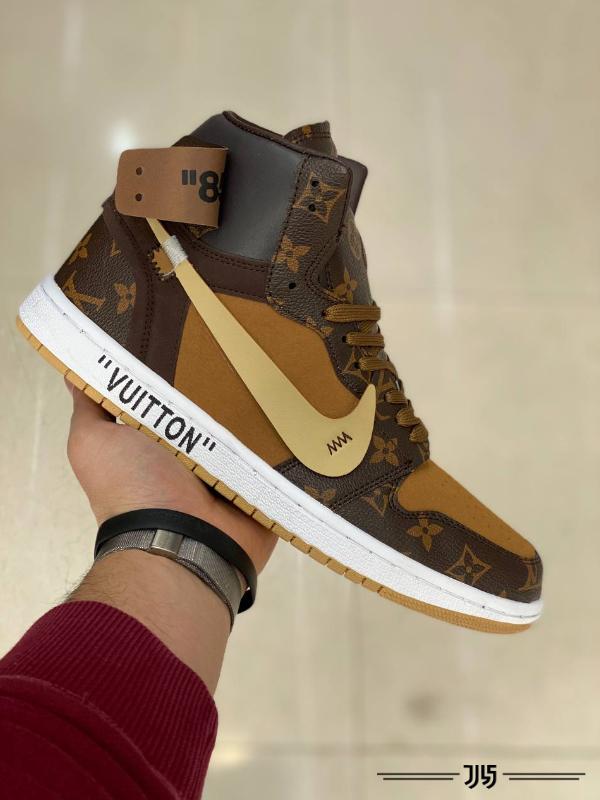 کتونی مردانه Nike Air Jordan 1 Off White LV